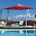 Ombrellone a palo laterale modello Capri
