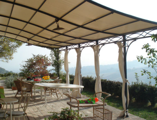 Pergola Novecento in ferro forgiato