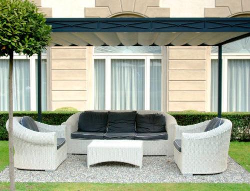 Gazebo Domus copertura da giardino moderna