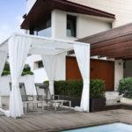 Gazebo da giardino in alluminio modello Duo