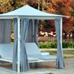 Gazebo in alluminio con tetto a pagoda modello Living