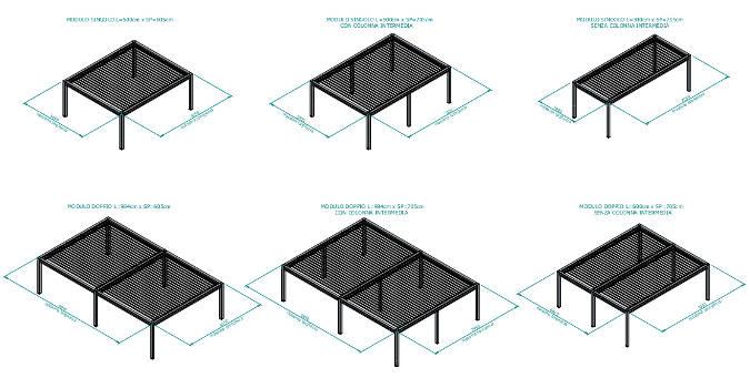 moduli pergola Kedry Prime