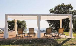 Saki, pergola in alluminio per la protezione solare