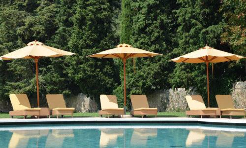 Oro Wood, ombrellone con struttura in legno