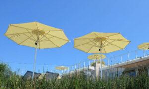 Oro Classic, ombrellone con struttura in alluminio