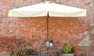 Mezz'ombra Wood, ombrellone con mezza copertura