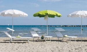 Silice Seaside, ombrellone balneare, tessuto Tempotest
