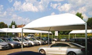 Cicogna Minimax, gazebo per la copertura delle auto